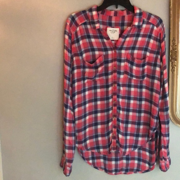 Abercrombie   Fitch Tops - 🍁🍂A F super soft flannel high low button down 1b1a1a13c